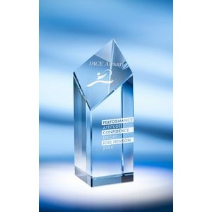 "7.5"" Encore Crystal Award w/Base"